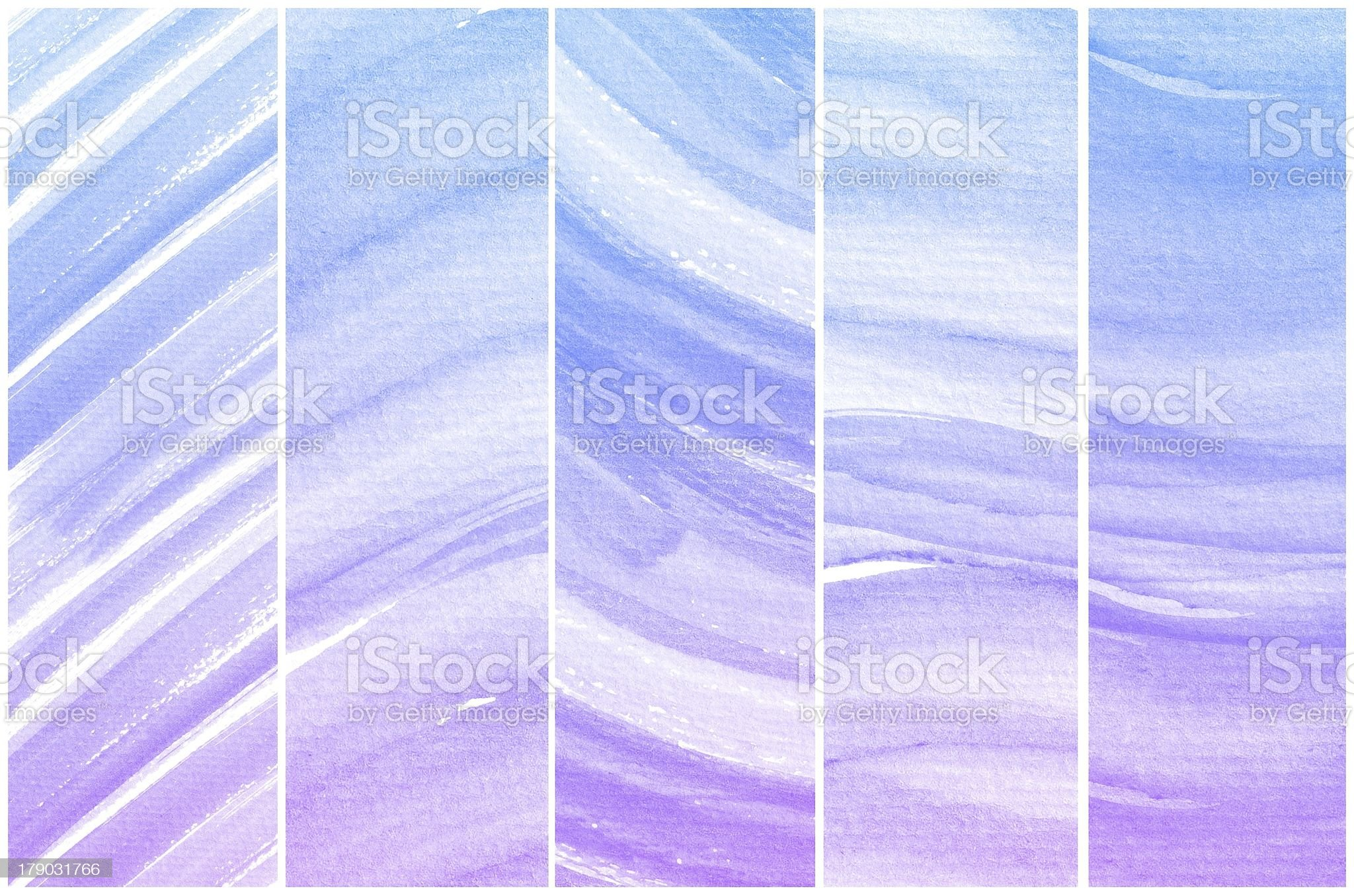 Set of Colorful water color painting background royalty-free stock vector art