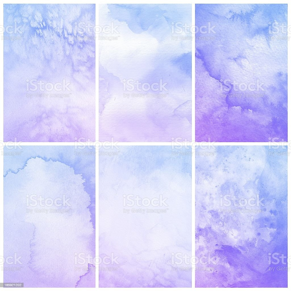 Set of Colorful watercolor painting background royalty-free stock photo