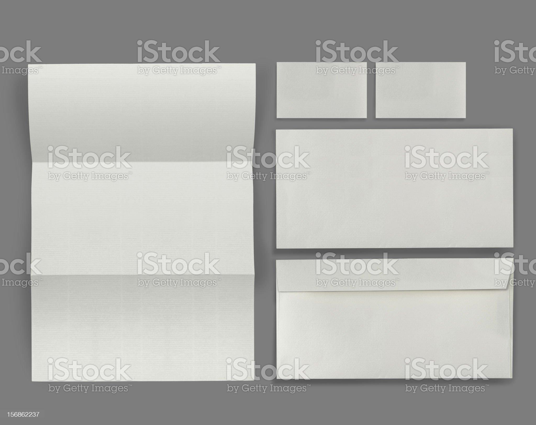 set of corporate identity royalty-free stock photo