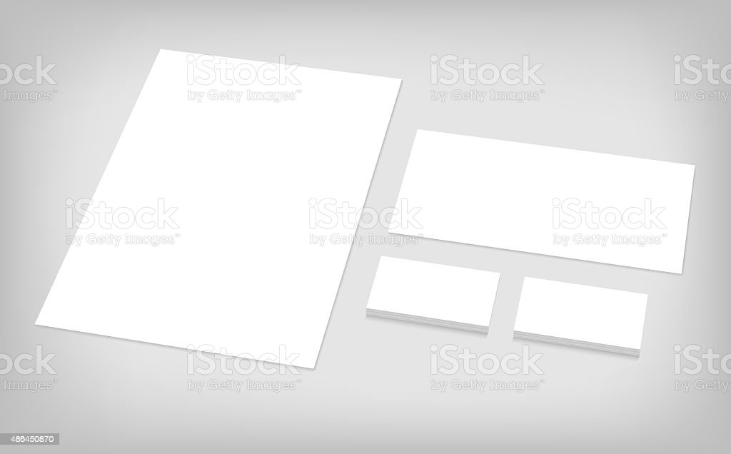 set of corporate identity template stock photo