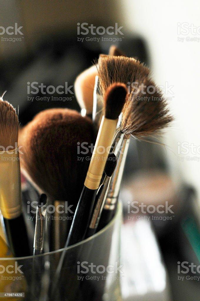 Set Of Cosmetic Brushes stock photo
