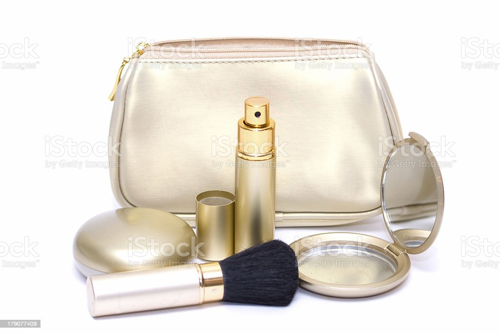 Set of cosmetics on white royalty-free stock photo