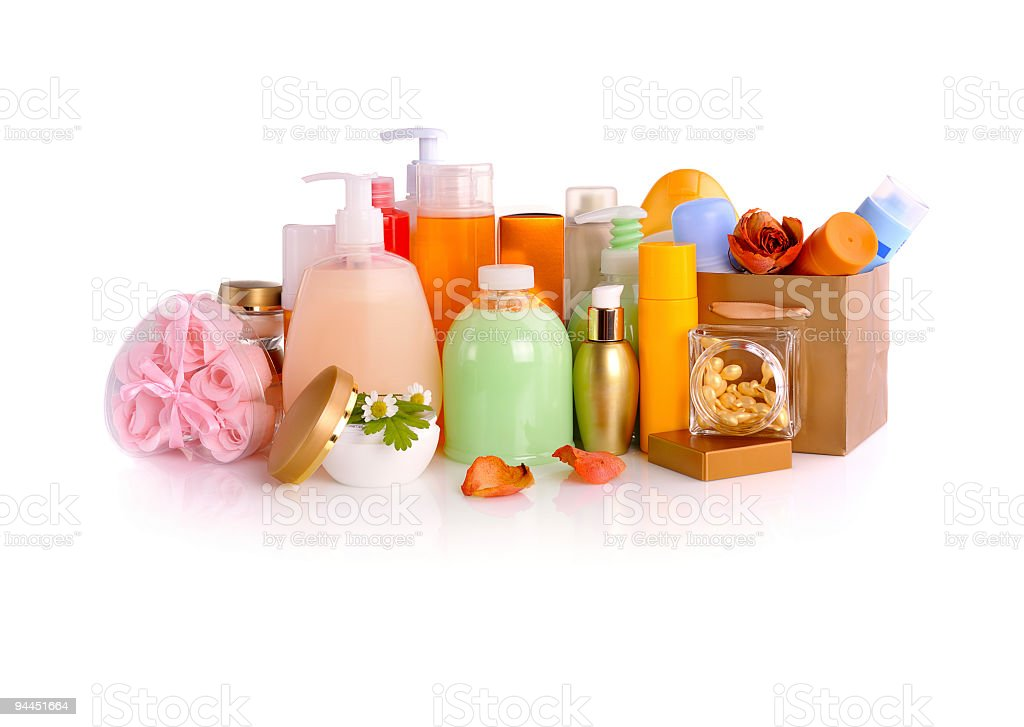 set of cosmetics royalty-free stock photo