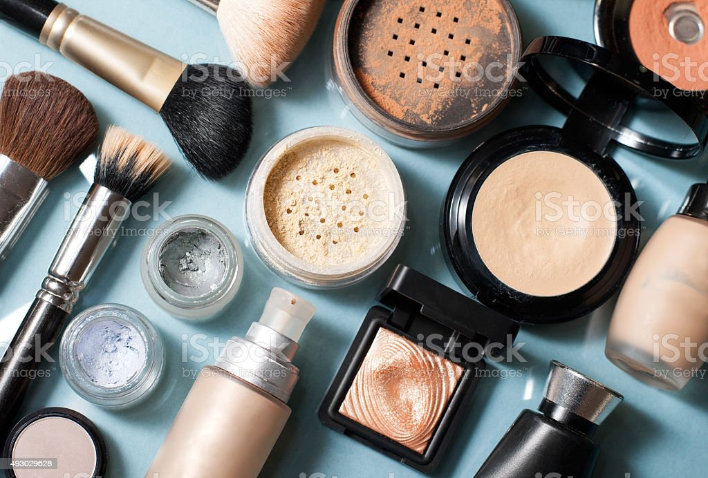 set of  decorative cosmetic stock photo