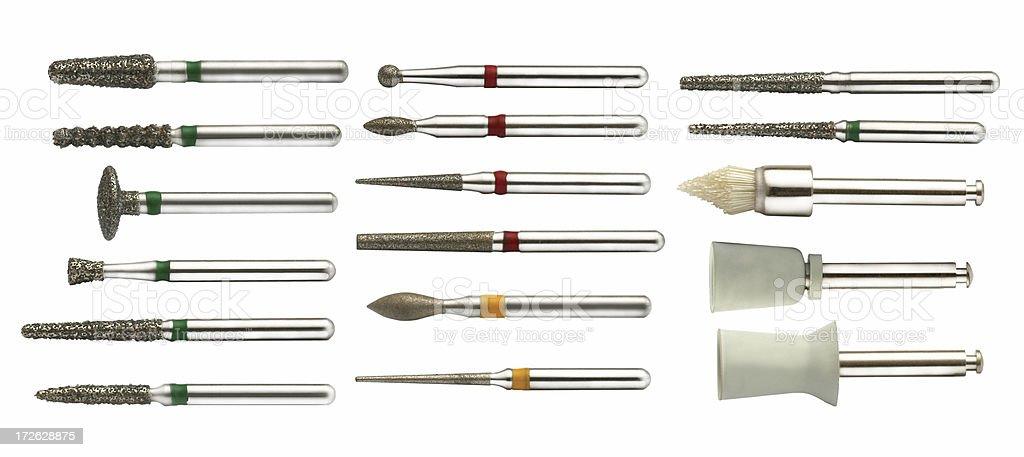 set of dental drills royalty-free stock photo