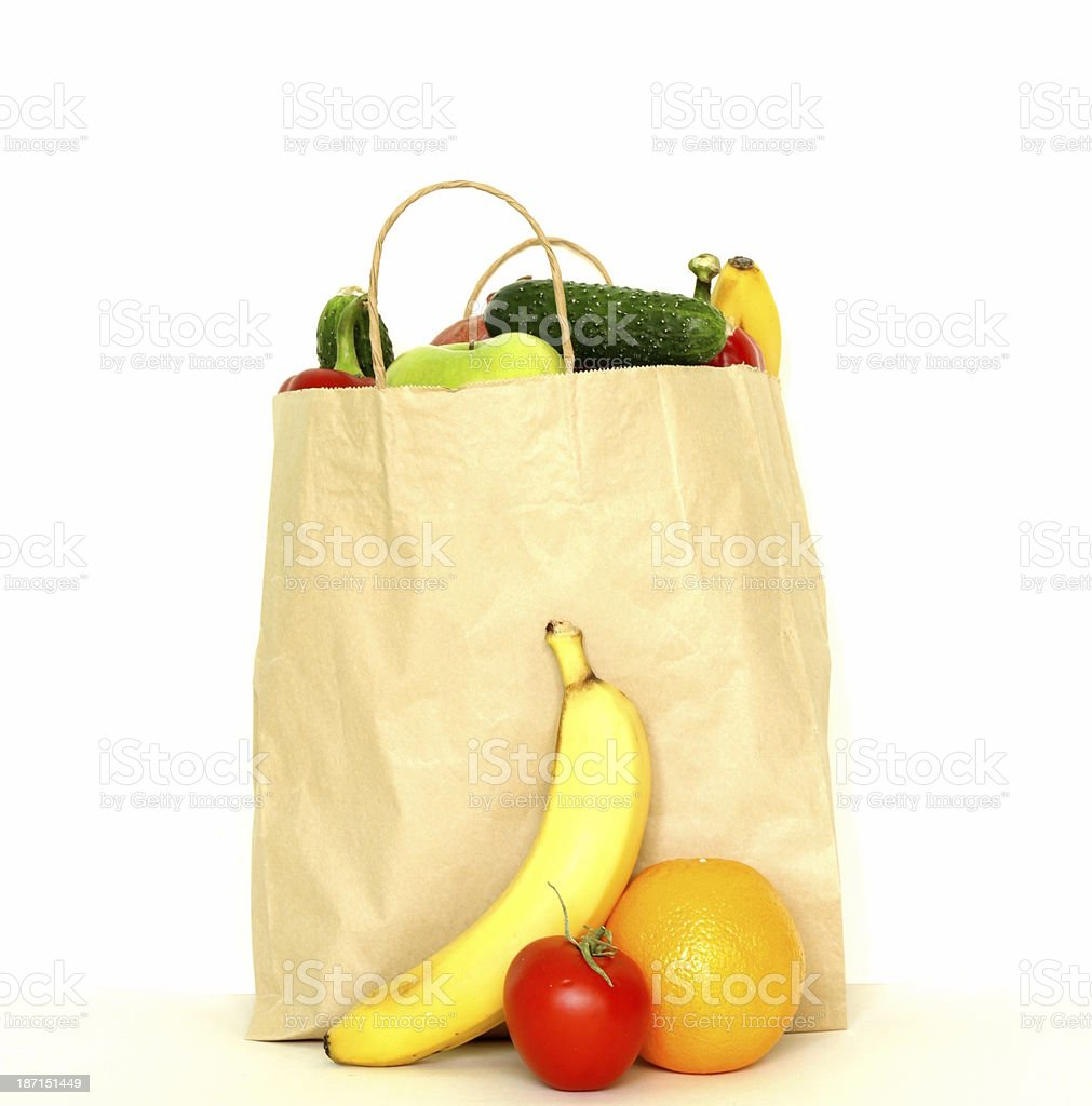 set of different convenience food (vegetables fruit) royalty-free stock photo