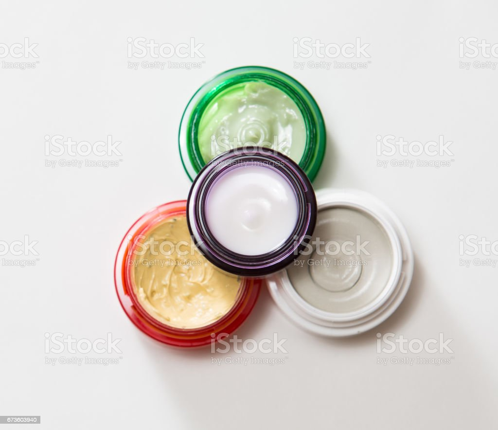 Set of different cosmetics cream stock photo