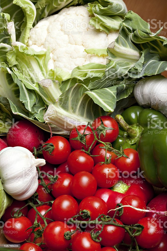 Set of different vegetables stock photo