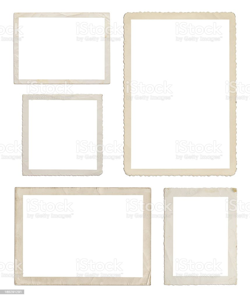 Set of different wood frames in white background stock photo