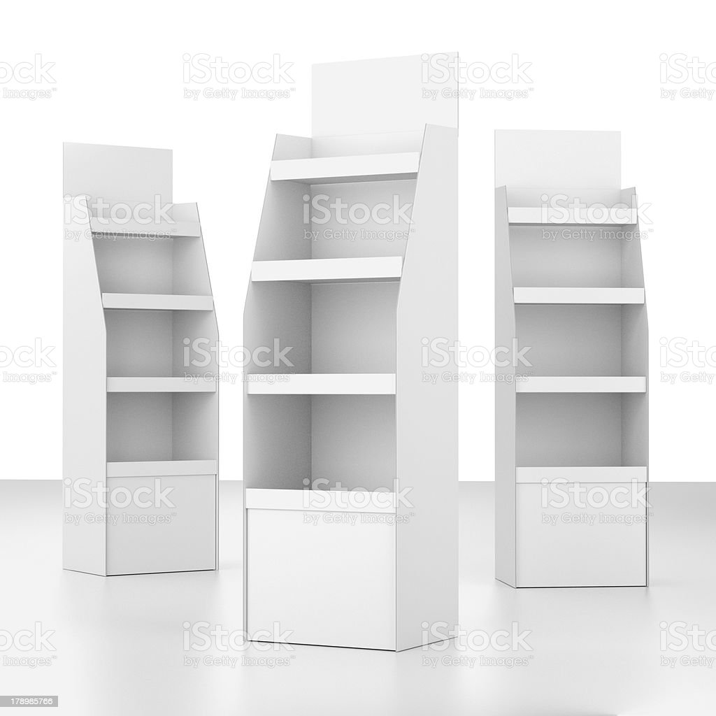 set of displays at a different angles stock photo