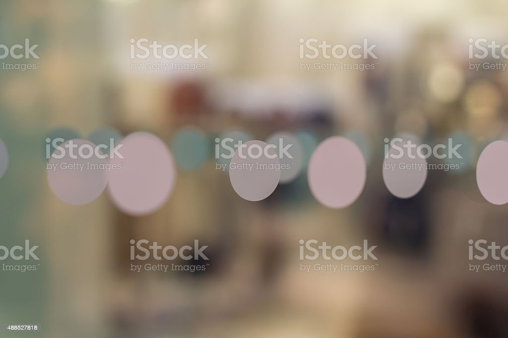 Set of Dots on shoping window stock photo