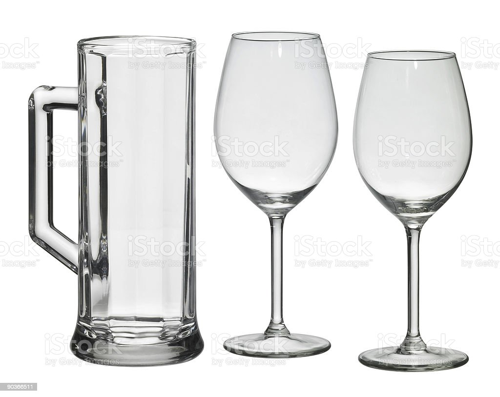 set of drinking glasses royalty-free stock photo
