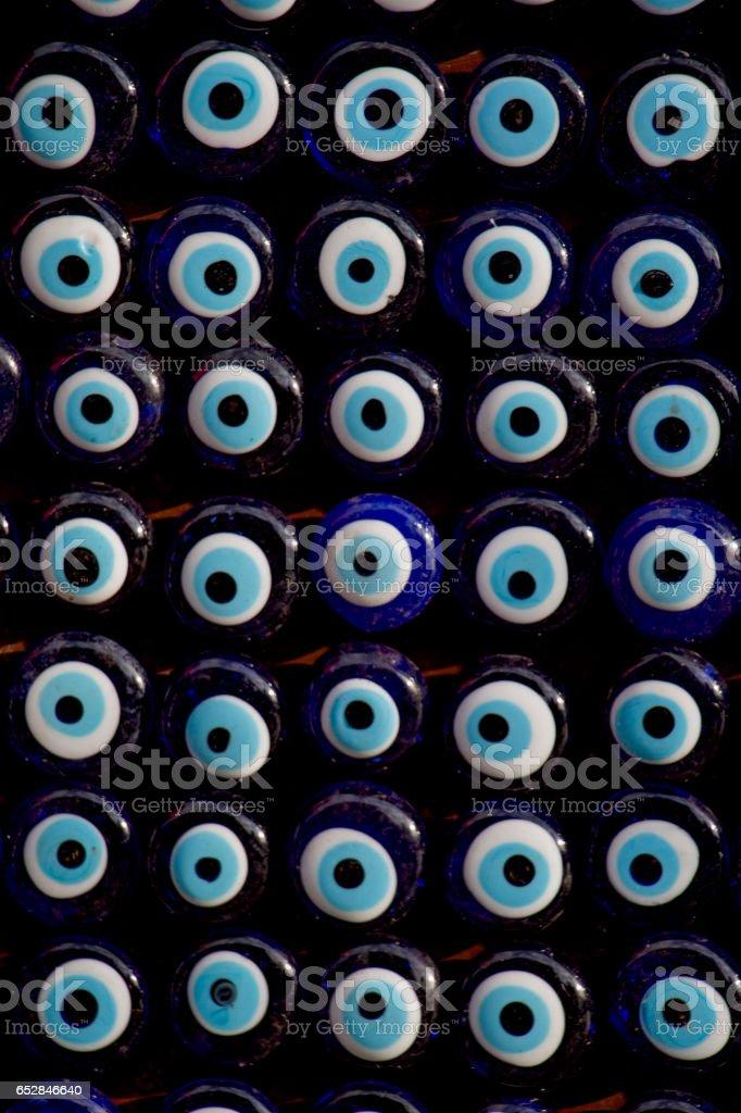 Set of evil eye bead as Amulet souvenir stock photo
