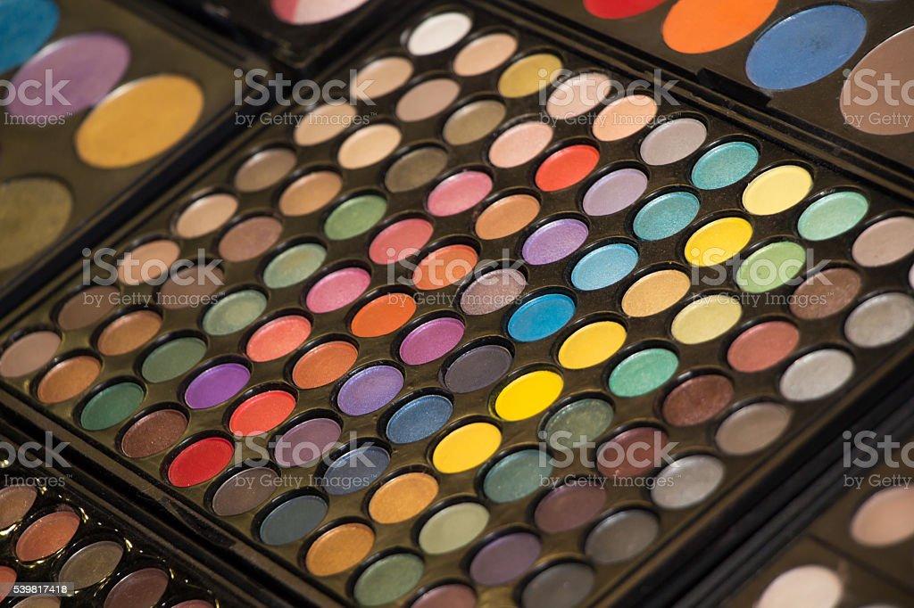 set of eyeshadows stock photo