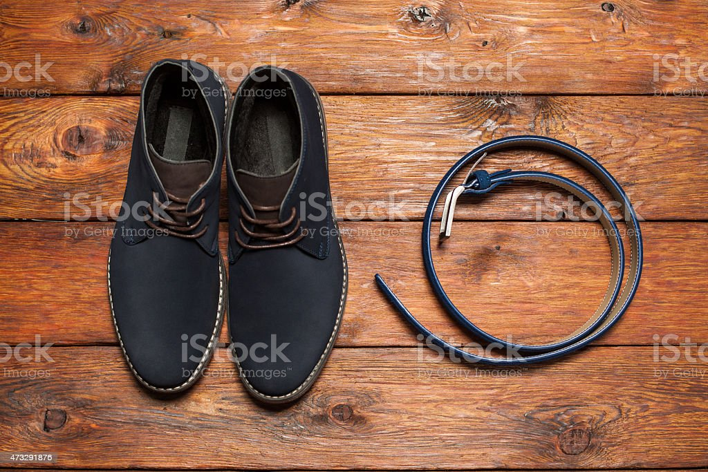 Set of fashionable man's accessories stock photo