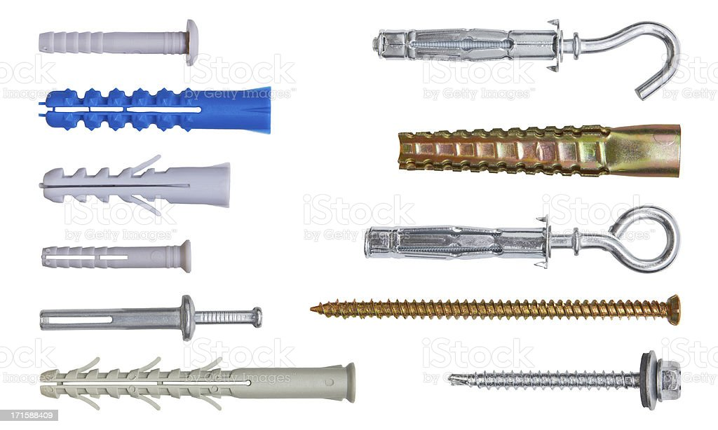 Set of fasteners. stock photo