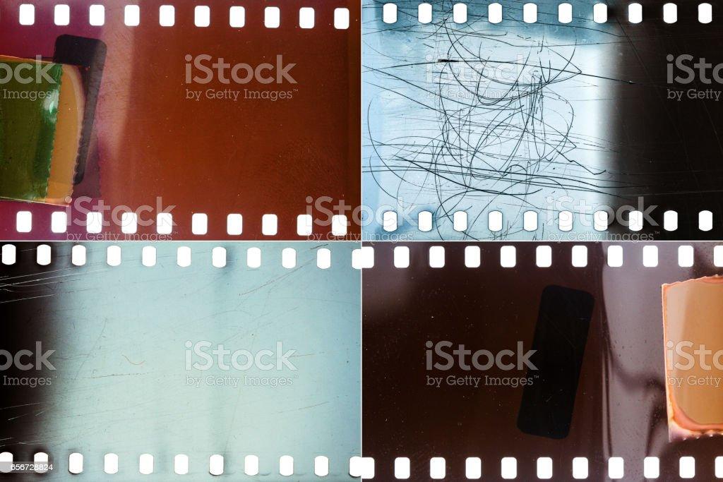 Set of film textures stock photo