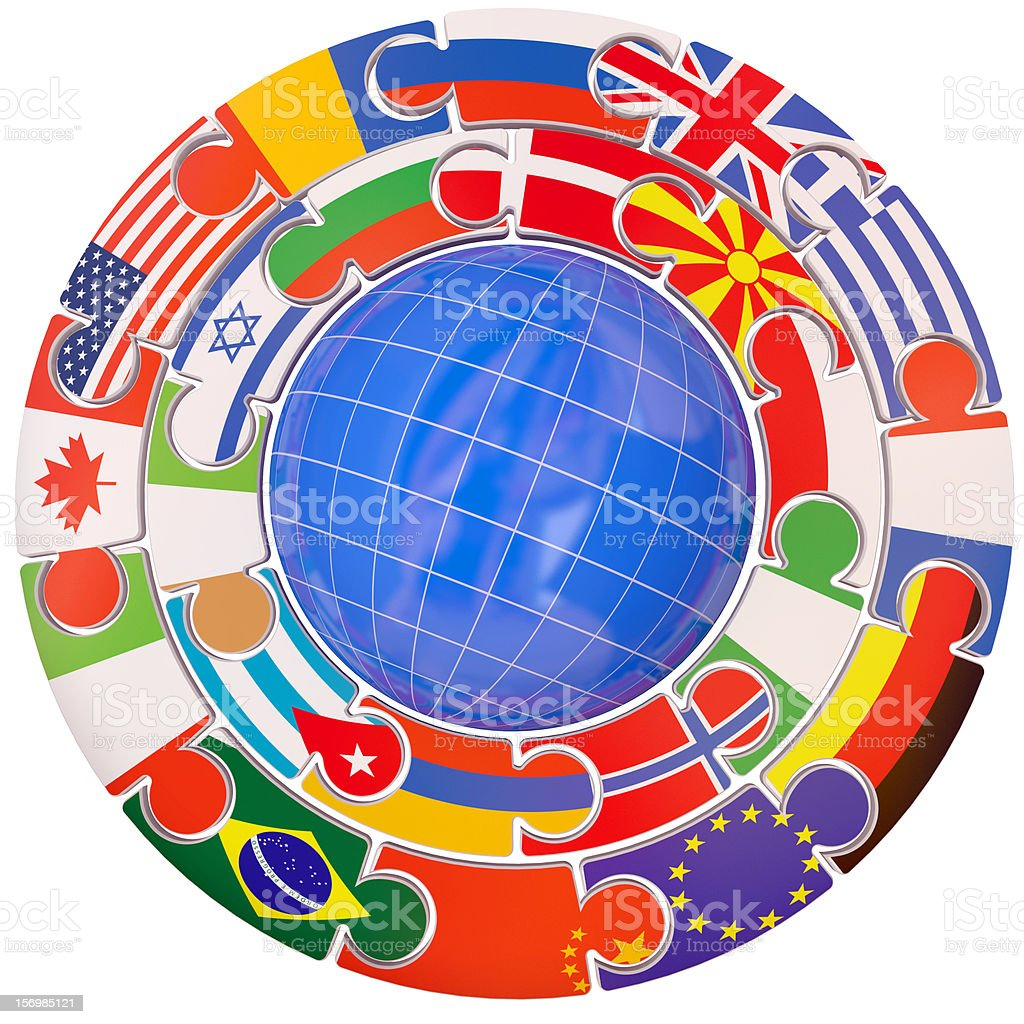 set of flags a symbol commonwealth stock photo