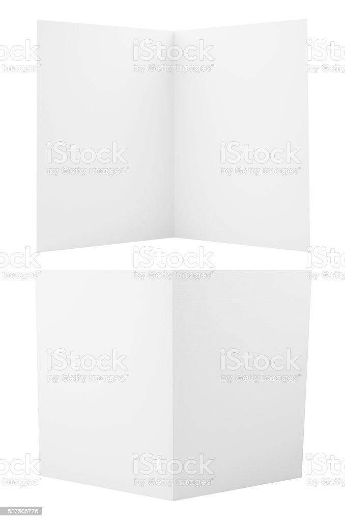 Set of folded A4 paper sheets stock photo