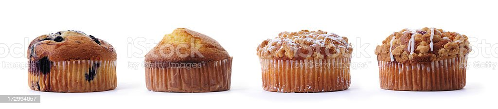 set of four different muffins royalty-free stock photo
