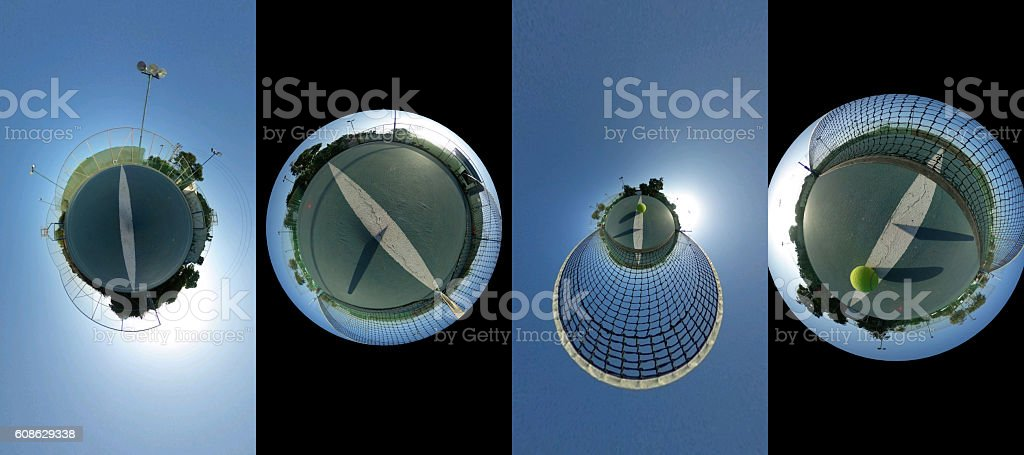 set of four pictures -Sports Concept stock photo