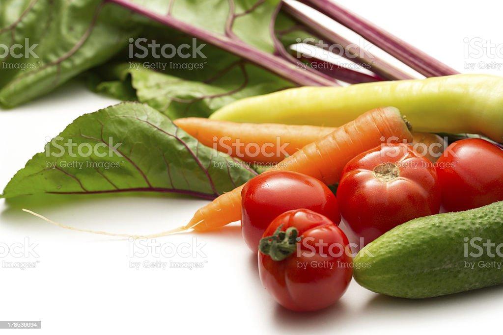 Set of fresh vegetables royalty-free stock photo