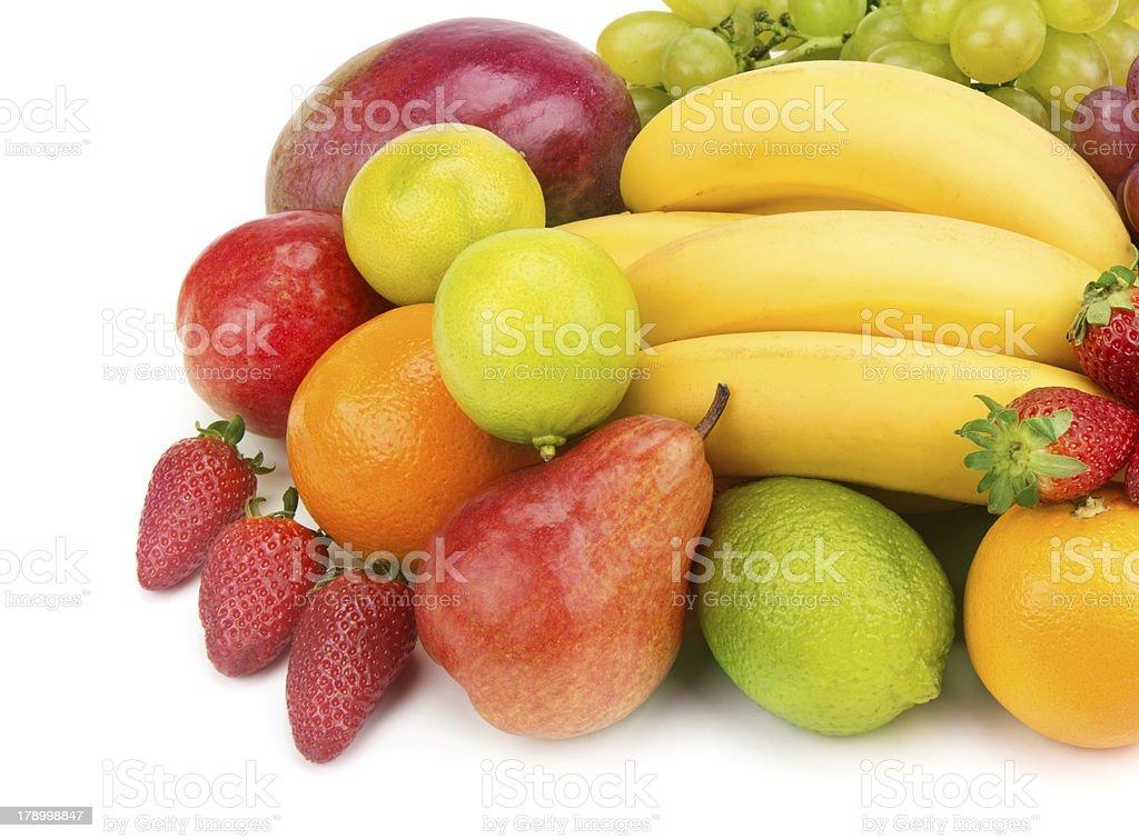 set of fruits on white background royalty-free stock photo