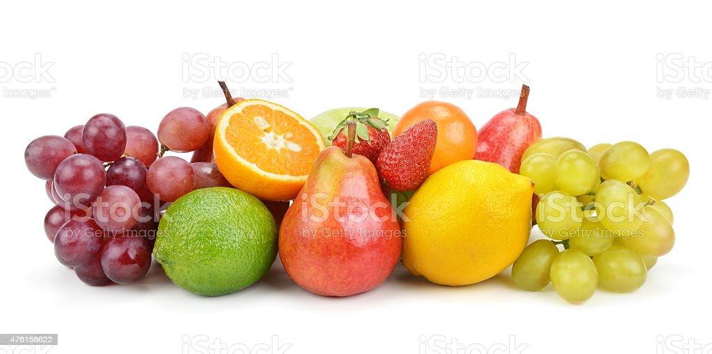 set of fruits stock photo