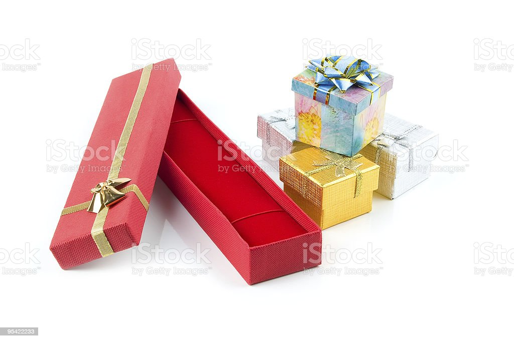 set of gift boxes royalty-free stock photo