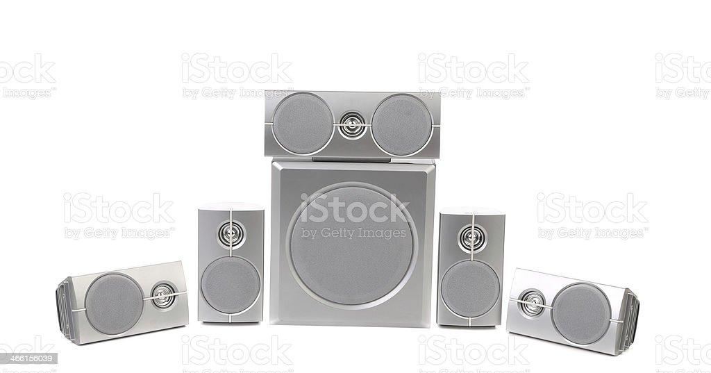Set of gray sound speakers. stock photo