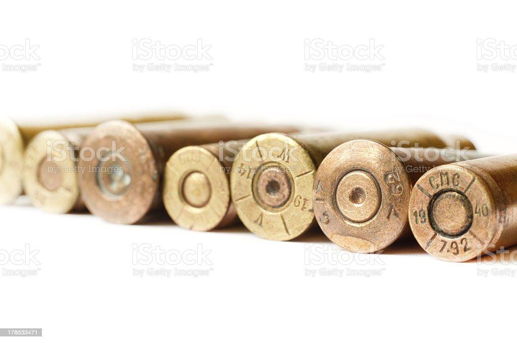 Set of gun bullets royalty-free stock photo
