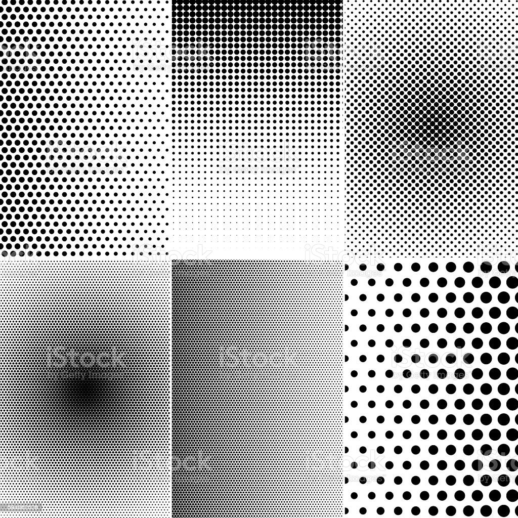 Set of halftone effects stock photo
