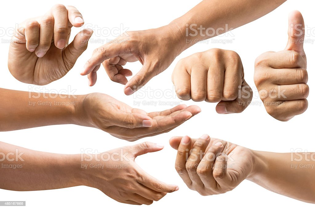 Set of hand stock photo