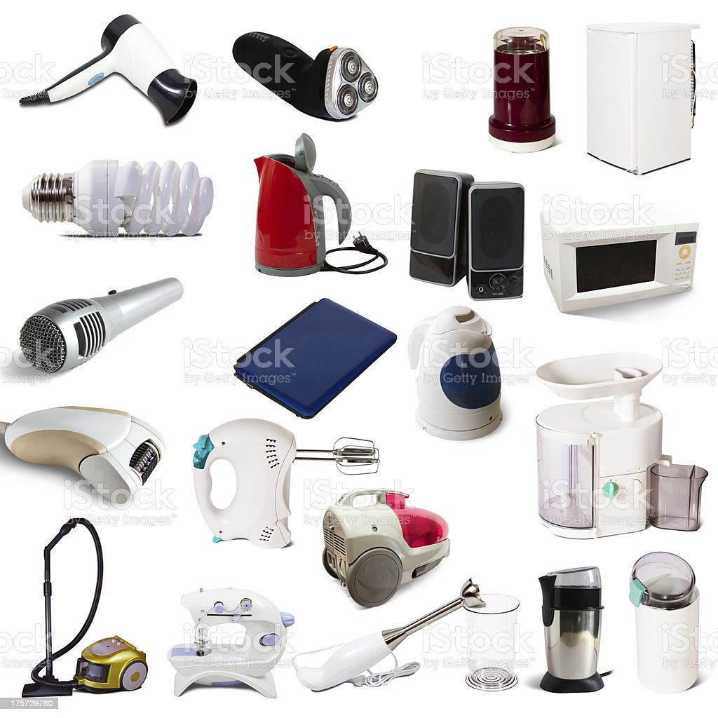 Set of  household appliances royalty-free stock photo