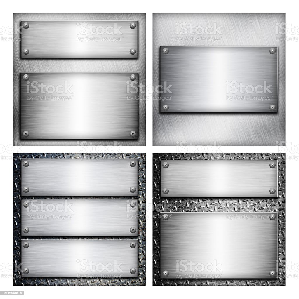 Set of industrial backgrounds for your design stock photo