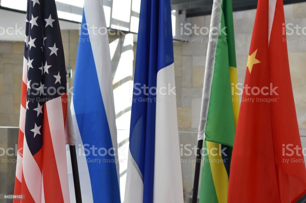 Set of international flags stock photo