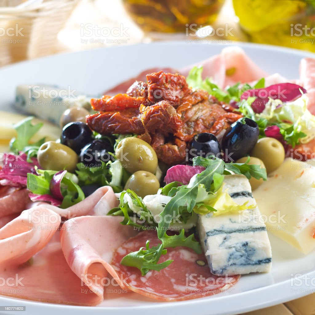 Set of italian style appetizers royalty-free stock photo