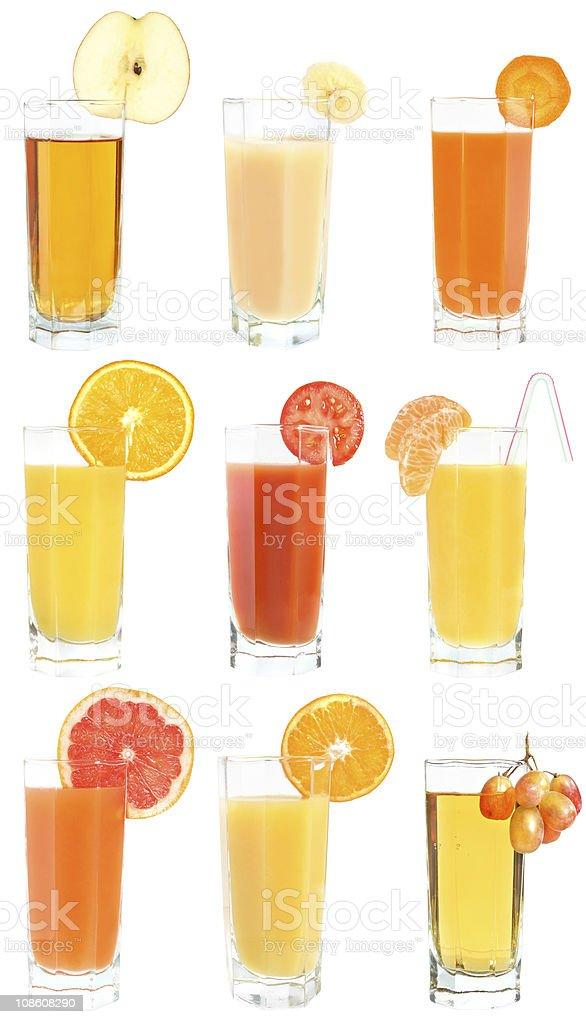 Set of juices stock photo