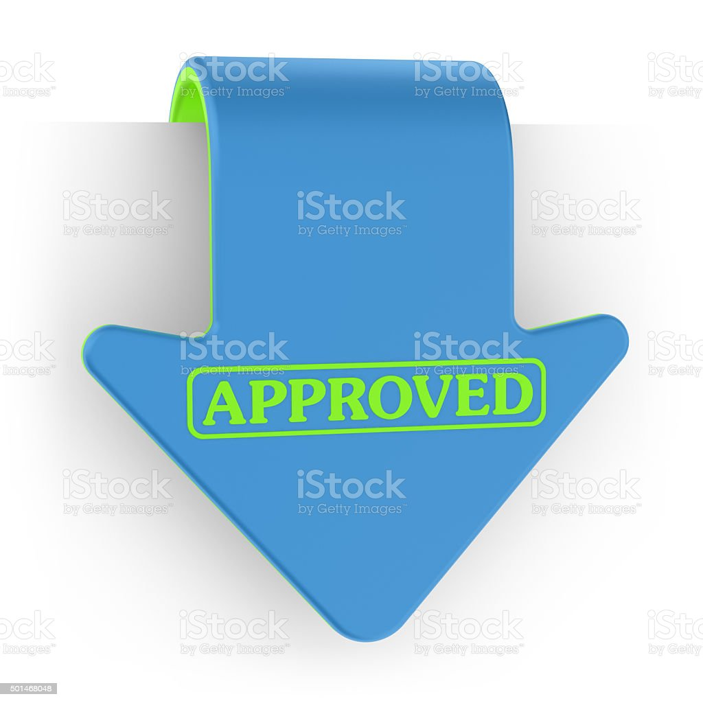 Set of Label - Approved stock photo