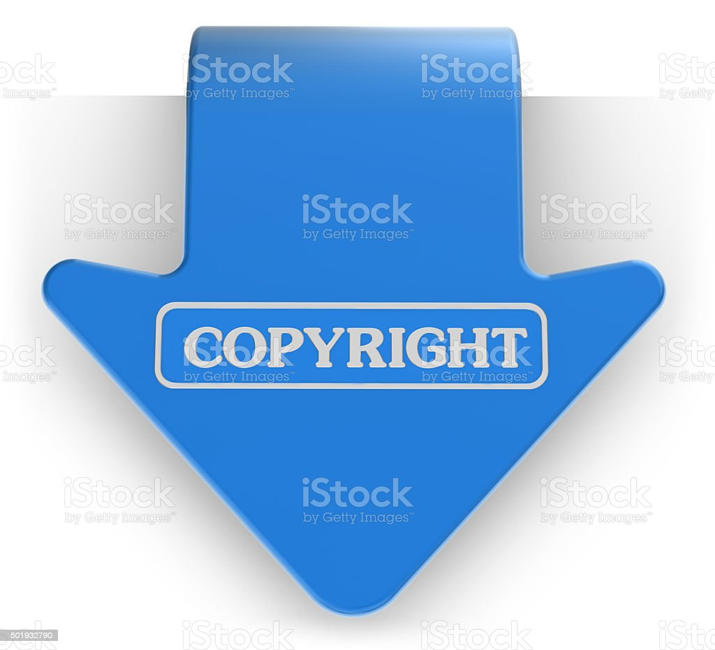 Set of Label - Copyright stock photo