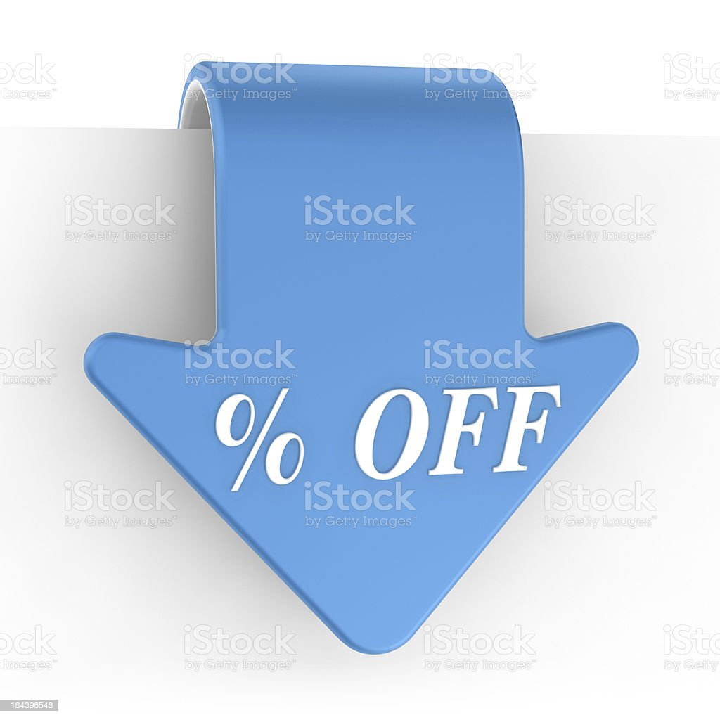 Set of Label - % Off royalty-free stock photo