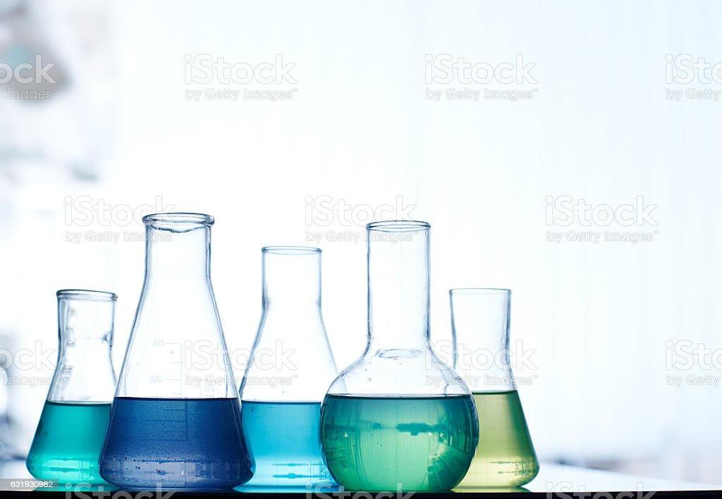 Set of liquids stock photo