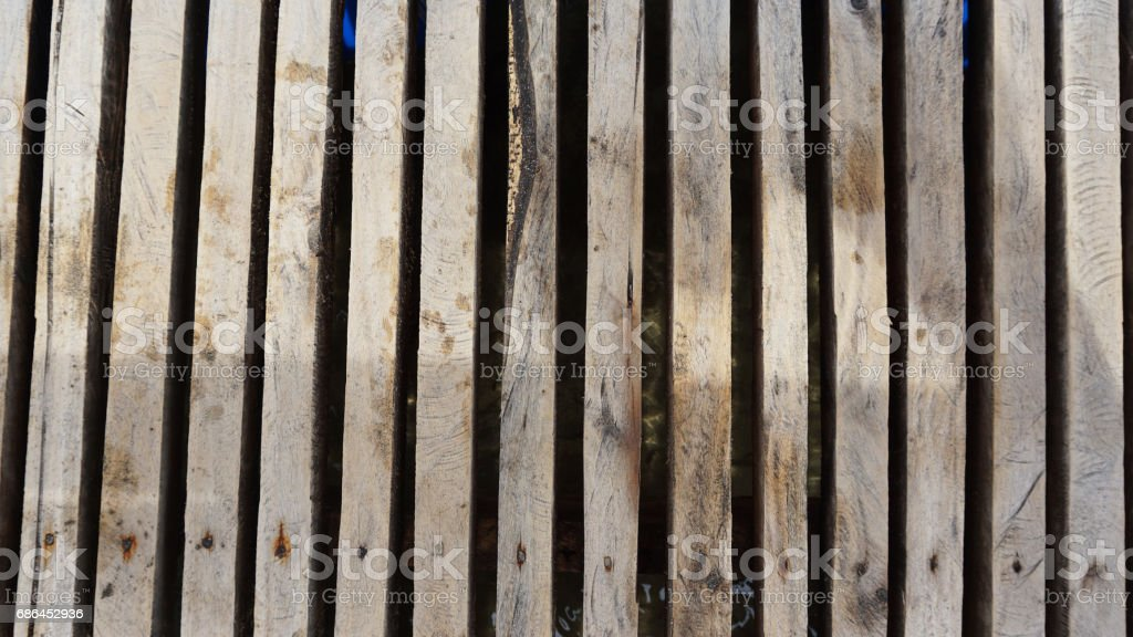 Set of long wood pieces texture with nails stock photo