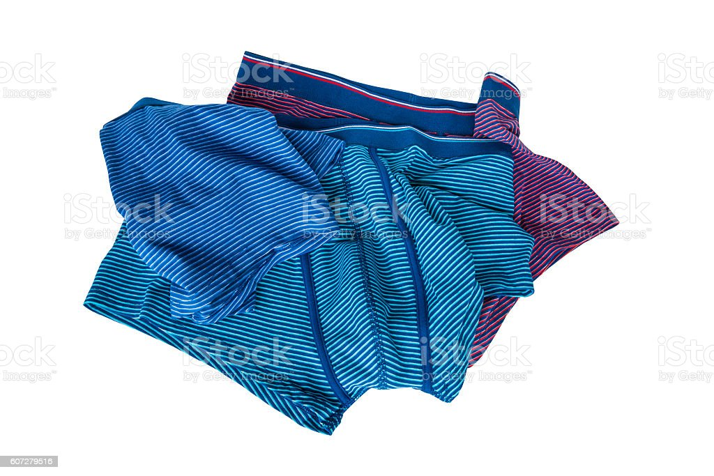 Set of male underwear isolated on white background stock photo