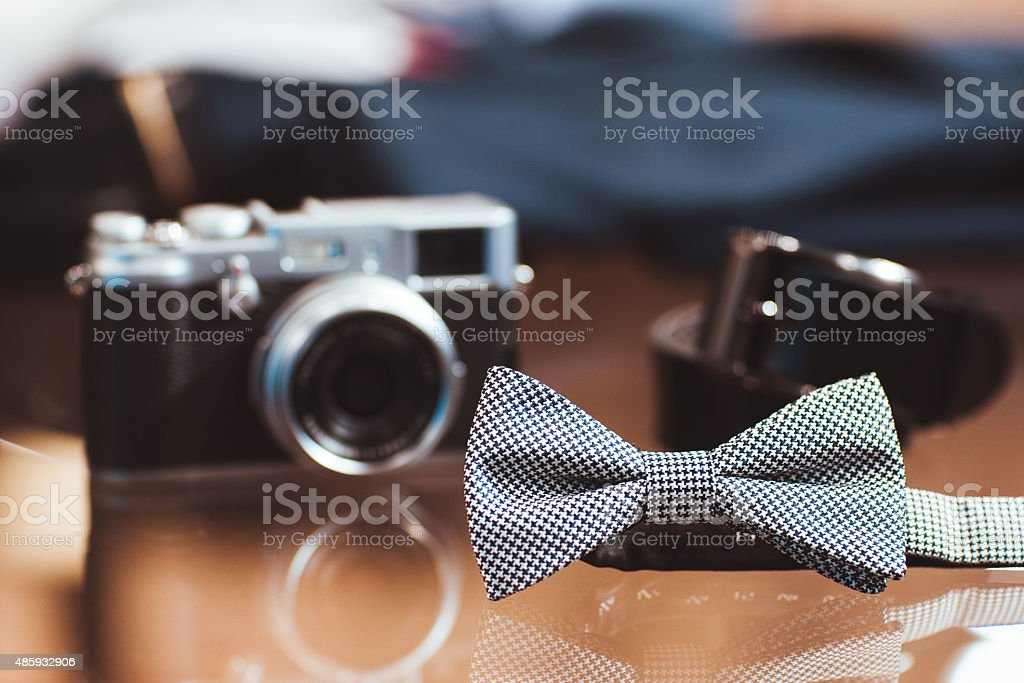 set of man's casual accessories stock photo