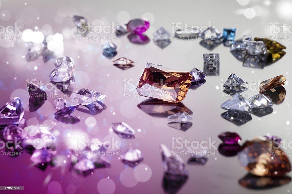 Set of many different gemstone royalty-free stock photo