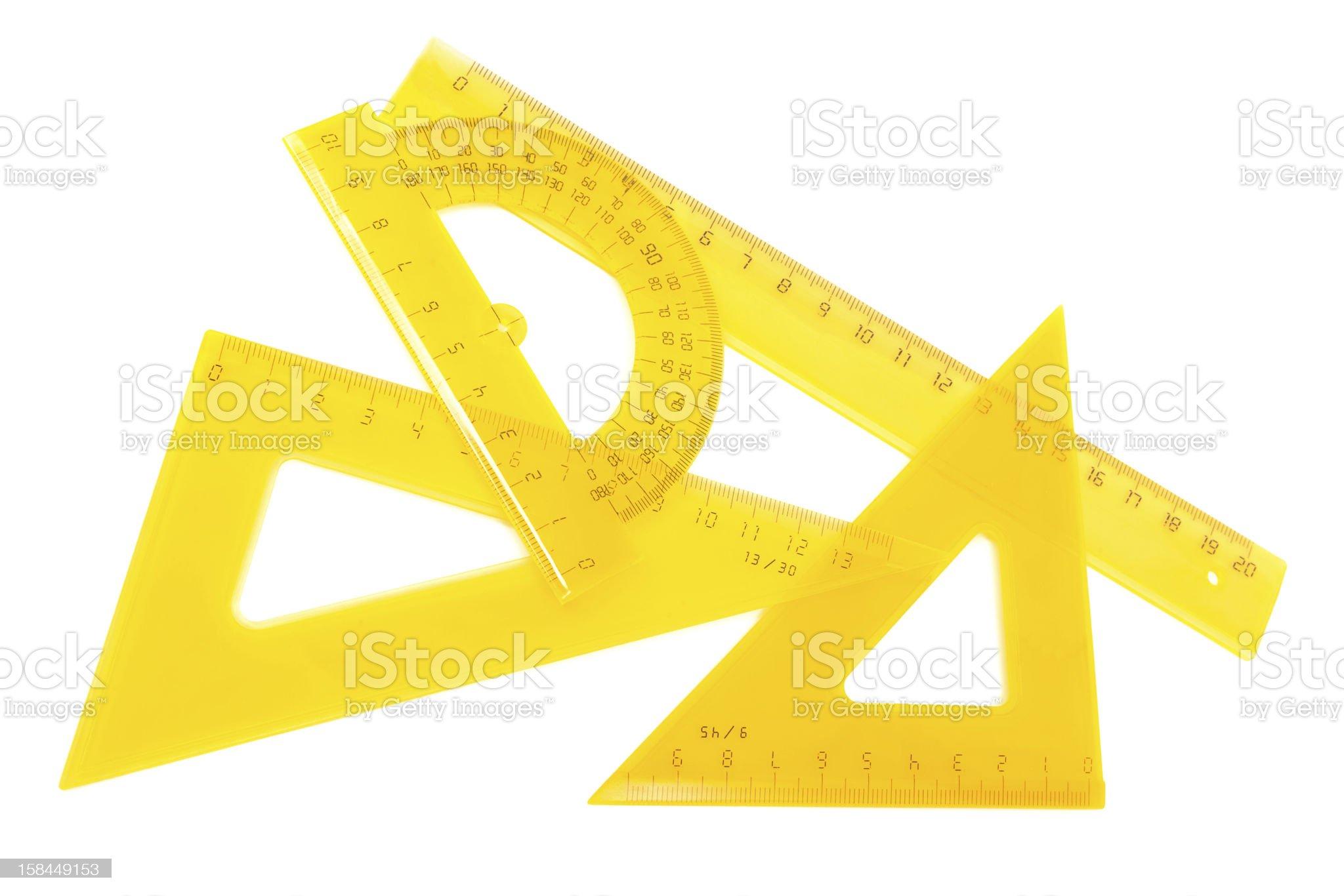 set of measuring tools royalty-free stock photo