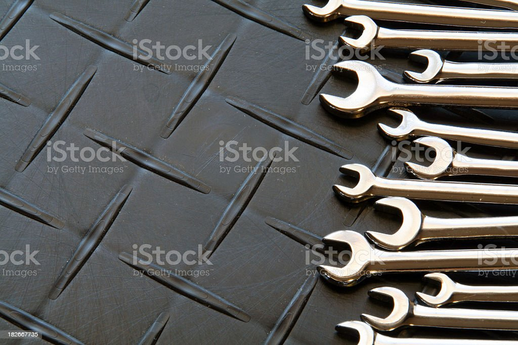 Set of Mini Wrenches royalty-free stock photo