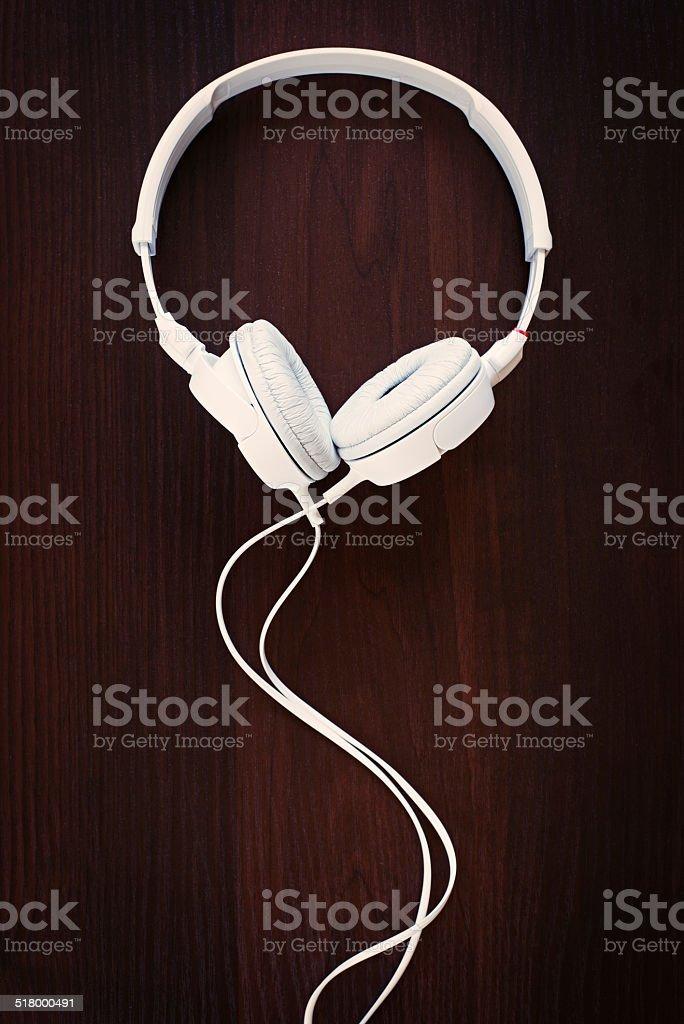 Set of modern stereo headphones stock photo