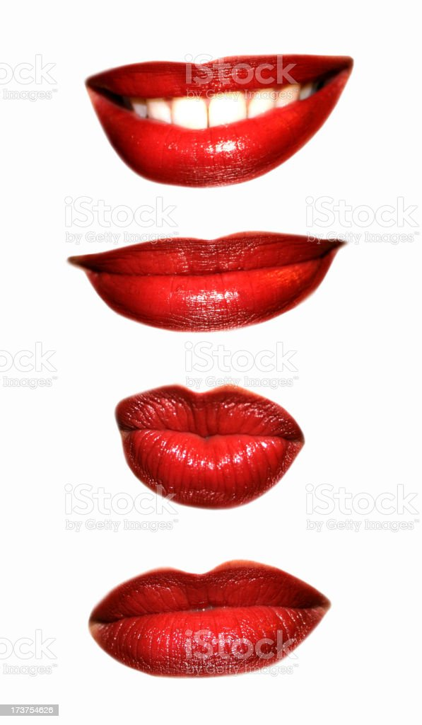 Set of Mouth Expressions royalty-free stock photo
